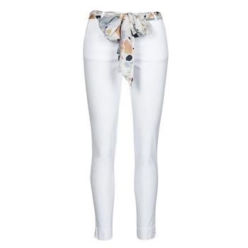 tekstylia Damskie Spodnie z pięcioma kieszeniami Betty London OUMA Biały