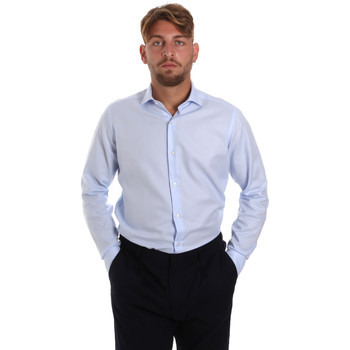 tekstylia Męskie Koszule z długim rękawem Les Copains 000.058 P3196SL Niebieski