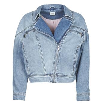 tekstylia Damskie Kurtki jeansowe Only ONLJACK Niebieski / Medium