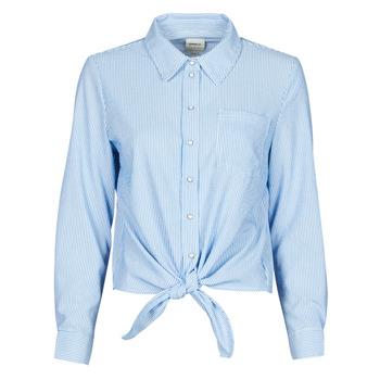 tekstylia Damskie Koszule Only ONLLECEY Niebieski