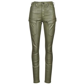 tekstylia Damskie Spodnie bojówki G-Star Raw HIGH G-SHAPE CARGO SKINNY PANT WMN Kaki