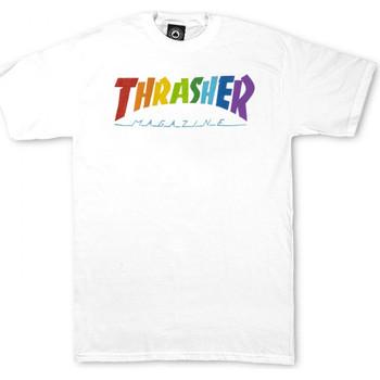 tekstylia Męskie T-shirty z krótkim rękawem Thrasher T-shirt rainbow mag ss Biały