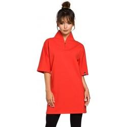 tekstylia Damskie Tuniki Be B043 Tunika kimono - czerwona