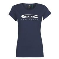 tekstylia Damskie T-shirty z krótkim rękawem G-Star Raw GRAPHIC 20 SLIM Niebieski