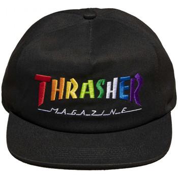 Dodatki Męskie Czapki z daszkiem Thrasher Cap rainbow mag snapback Czarny