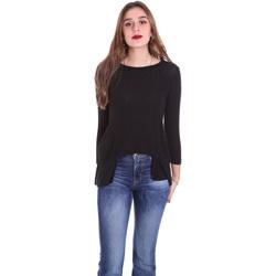 tekstylia Damskie T-shirty z długim rękawem Dixie T340M028 Czarny