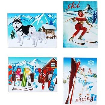 Dom Dekoracje bożonarodzeniowe  Signes Grimalt Śnieg Magnetyczny Set 4 U Multicolor