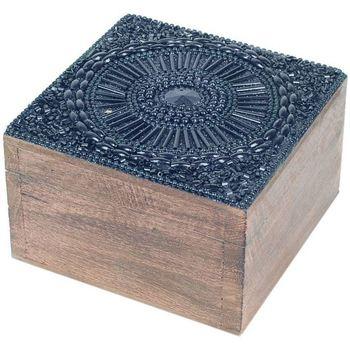 Dom Kosze, pudełka Signes Grimalt Kwadratowe Pudełko Na Biżuterię Negro