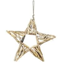 Dom Dekoracje bożonarodzeniowe  Signes Grimalt Gwiazda Z Drewna Dorado