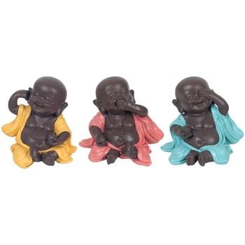 Dom Statuetki i figurki  Signes Grimalt Buddowie Set 3 Jednostki Multicolor