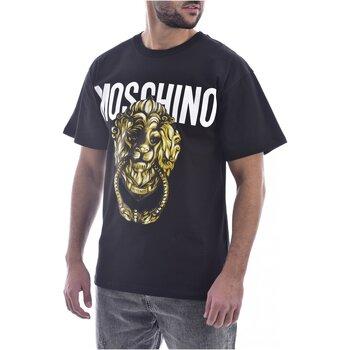 tekstylia Męskie T-shirty z krótkim rękawem Moschino ZA0716 Czarny