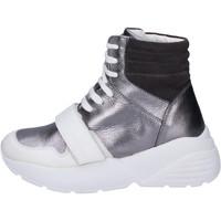 Buty Damskie Trampki wysokie Twin Set Sneakersy BJ482 Szary