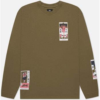 tekstylia Męskie T-shirty i Koszulki polo Edwin T-shirt manches longues  Tarot Deck II vert olive