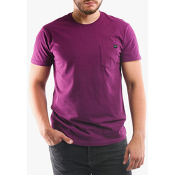 tekstylia Męskie T-shirty i Koszulki polo Edwin T-shirt avec poche violet