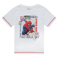 tekstylia Chłopiec T-shirty z krótkim rękawem TEAM HEROES  SPIDERMAN TEE Biały