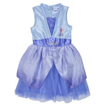 tekstylia Dziewczynka Sukienki krótkie TEAM HEROES  FROZEN DRESS Niebieski