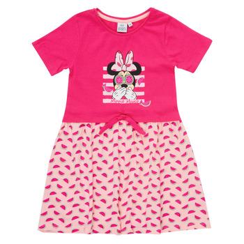 tekstylia Dziewczynka Sukienki krótkie TEAM HEROES  MINNIE DRESS Różowy