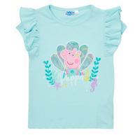 tekstylia Dziewczynka T-shirty z krótkim rękawem TEAM HEROES  PEPPA PIG TEE Niebieski