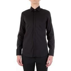 tekstylia Męskie Koszule z długim rękawem Manuel Ritz 3030E651-213229 Czarny