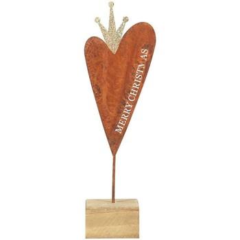 Dom Dekoracje bożonarodzeniowe  Signes Grimalt Małe Serce Z Drewnianą Podstawą Multicolor