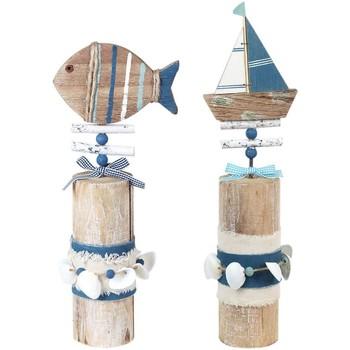 Dom Statuetki i figurki  Signes Grimalt Adorno Boat 2U Trunk Multicolor