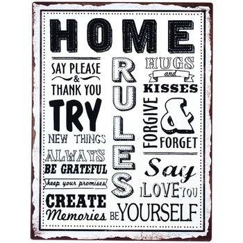 Dom Obrazy Signes Grimalt Home Plate Ścienna Multicolor