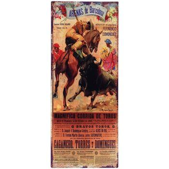 Dom Obrazy Signes Grimalt Kwadratowa Płyta Ścienna Toros Multicolor