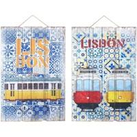 Dom Obrazy Signes Grimalt Ściana Ozdoba Lizbona 2 Dif. Multicolor