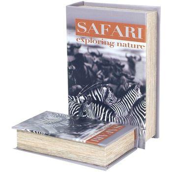 Dom Kufry, skrzynki Signes Grimalt Zebra Safari 2U Pudełka Book Multicolor