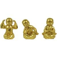 Dom Statuetki i figurki  Signes Grimalt Różne Złote Buddy 3U Dorado