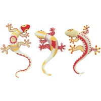Dom Statuetki i figurki  Signes Grimalt 3 Different Lizard We Wrześniu 3U Multicolor