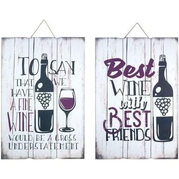 Dom Obrazy Signes Grimalt Płyta Ścienna Wine 2 Dif. Multicolor