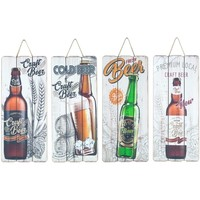 Dom Obrazy Signes Grimalt Płyta Ścienna Beer 4 Dif. Multicolor