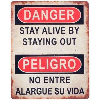 Dom Obrazy Signes Grimalt Płyta Ścienna Danger / Danger Multicolor