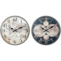 Dom Zegary Signes Grimalt Światowy Zegar Ścienny Set 2U Negro