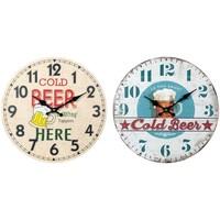 Dom Zegary Signes Grimalt Zegar Ścienny Do Piwa Set 2U Multicolor