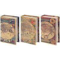 Dom Kufry, skrzynki Signes Grimalt Skrzynki Book 3 Dif. Świat Multicolor