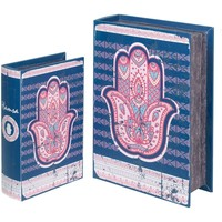 Dom Kufry, skrzynki Signes Grimalt Skrzynki Fatima 2U Ręcznie Book Azul