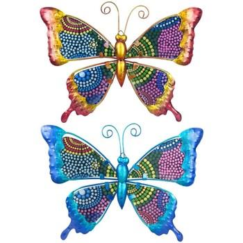Dom Statuetki i figurki  Signes Grimalt Motyle Set 2 Szt. Multicolor