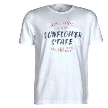 tekstylia Męskie T-shirty z krótkim rękawem Lee SS POSTER TEE Biały