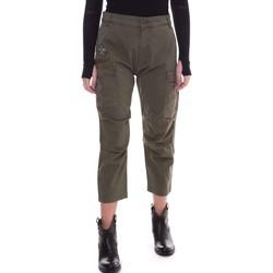 tekstylia Damskie Spodnie Fornarina BE171L90G29231 Zielony