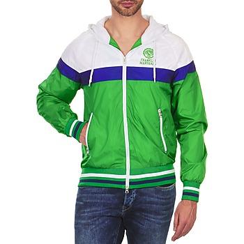 tekstylia Męskie Kurtki krótkie Franklin & Marshall MELBOURNE Zielony / Biały / Niebieski