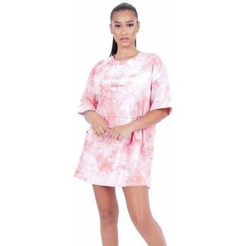 tekstylia Damskie Sukienki krótkie Sixth June Robe femme  Tie and dye rose