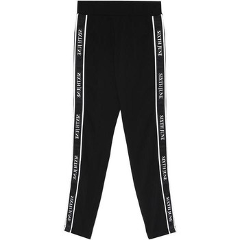 tekstylia Damskie Spodnie dresowe Sixth June Legging  bande imprimée noir/blanc