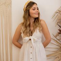 tekstylia Damskie Sukienki długie Céleste CAMOMILLE Biały