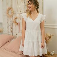 tekstylia Damskie Sukienki krótkie Céleste DAHLIA Biały