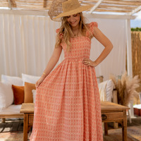 tekstylia Damskie Sukienki długie Céleste AURORE Różowy