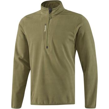 tekstylia Męskie Bluzy dresowe Reebok Sport Fitness Outdoor Fleece Quarter Zip Zielony