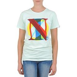 tekstylia Damskie T-shirty z krótkim rękawem Nixon PACIFIC Zielony