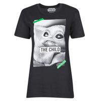 tekstylia T-shirty z krótkim rękawem Yurban OUFIMM Czarny